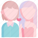 couple, girl, heart, love, man, together, valentine icon
