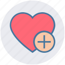 favorite, heart, love, plus, romantic, valentine, valentines icon