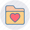 archive, bookmark, favorites, folder, heart, love, valentine