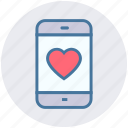 heart, love, love sign, mobile, mobile screen, phone, smartphone icon