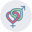 dating, female, heart, love, male, sex, valentine icon