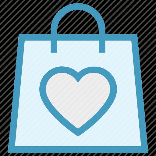 Hand bag, heart, love, shopper bag, shopping bag, valentine gift, valentine shopping icon - Download on Iconfinder