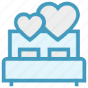 bed, bedroom, heart, honeymoon, love, romance, valentine