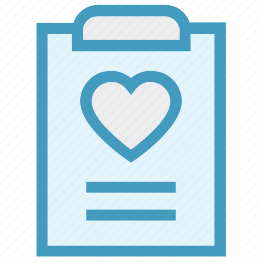 Clipboard, document, favorite, heart, list, love, paper icon - Download on Iconfinder