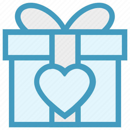 Gift, gift box, heart, love, present, present box, wedding gift icon - Download on Iconfinder