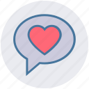 chat, communication, conversation, heart, love, message, valentine