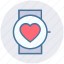 apple, band, health, heart, smart watch, watch icon