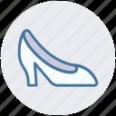 fashion, female shoe, girl shoe, heal, heal shoe, shoes, woman shoe icon
