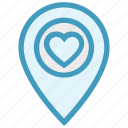 heart, location, love, map, map pin, navigation, pointer