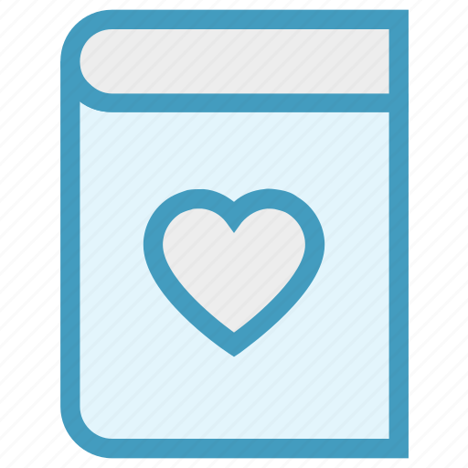 Book, content, dairy, heart, love, love story, notebook icon - Download on Iconfinder