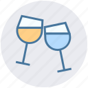 alcohol, drinks, glass, party, restaurant, wine icon