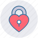 heart, heart padlock, lock, locked, privacy, valentines icon