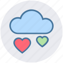 cloud, favorite, health, heart, online dating, online love, romance icon