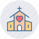 building, chapel, church, church with heart, heart, marriage, wedding
