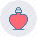 heart bottle, heart shaped, perfume, perfume bottle, perfume with heart, scent, valentine perfume icon