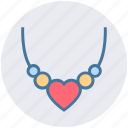 heart, jewelry, locket, love, necklace, pearl, valentine icon