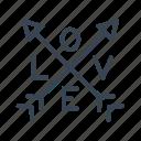 arrow, logo, love, sign icon