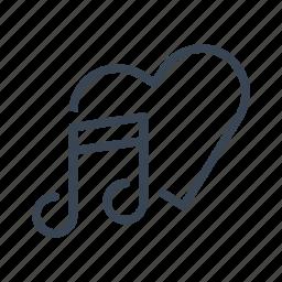 love, music, romantic, song icon