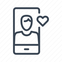 app, chat, date, dating, man, mobile, phone icon