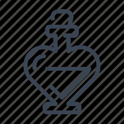 heart, love, perfume, valentine's day icon
