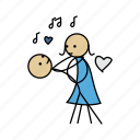 couple, dance, love, music, romance, romentic, tone icon