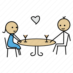 candle, date, dating, night, romantic, wine icon