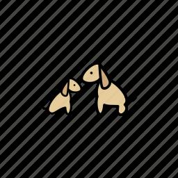 animal, dogs, love, pet, wildlife icon