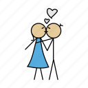 boy, girl, kiss, love, romance, sex, valentine icon