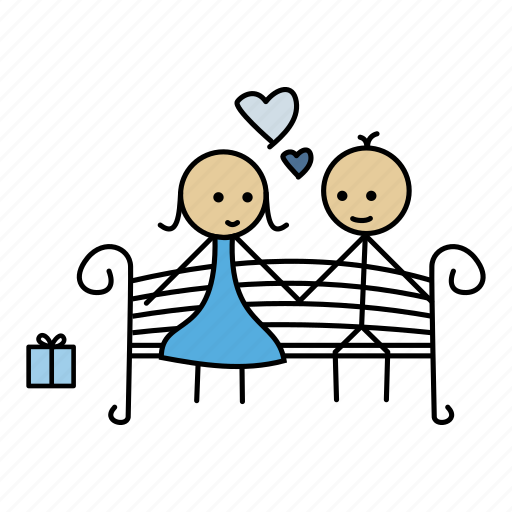 boy, date, flowers, garden, gift, love, stick icon