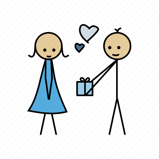 date, gift, heart, love, romantic, valentine icon