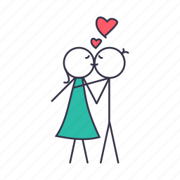 boy, girl, kiss, love, romance, sex, valentine icon