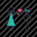 heart, kiss, love, romentic, swag icon