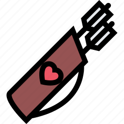 arrows, love, lovers, relationship, valentine's day, wedding icon