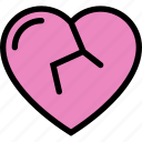 broken, heart, love, lovers, relationship, valentine's day, wedding icon