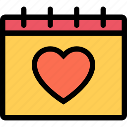 calendar, love, lovers, relationship, valentine's day, wedding icon