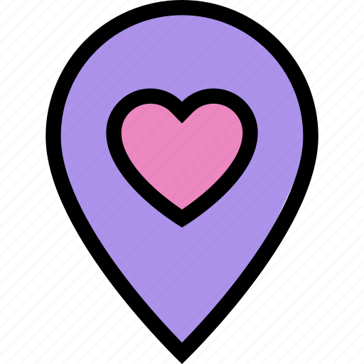 date, location, love, lovers, relationship, valentine's day, wedding icon