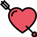arrow, heart, love, lovers, relationship, valentine's day, wedding icon