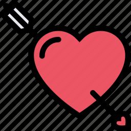 arrow, heart, love, lovers, relationship, valentine's day, wedding icon