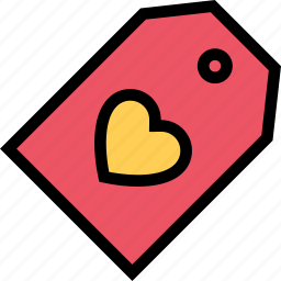 heart, love, lovers, relationship, tag, valentine's day, wedding icon
