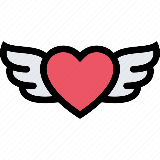 heart, love, lovers, relationship, valentine's day, wedding, wings icon