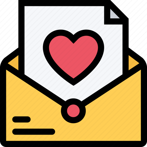 letter, love, lovers, relationship, valentine's day, wedding icon
