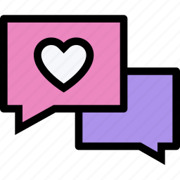 love, lovers, relationship, talk, valentine's day, wedding icon