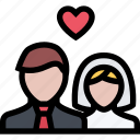 love, lovers, newlyweds, relationship, valentine's day, wedding icon