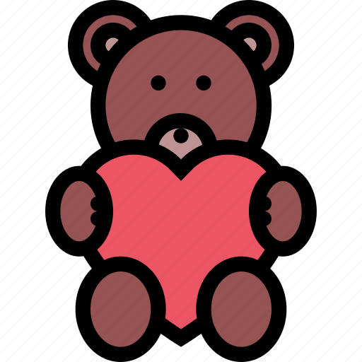 love, lovers, relationship, teddy bear, valentine's day, wedding icon