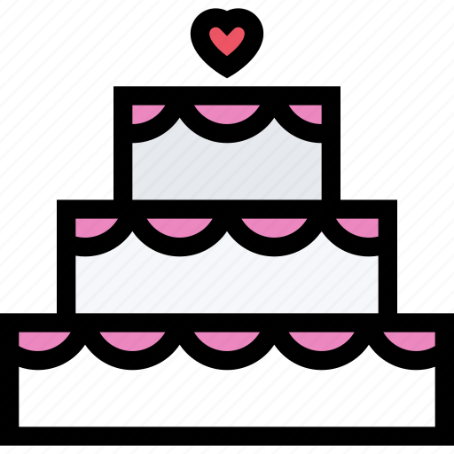 cake, love, lovers, relationship, valentine's day, wedding icon