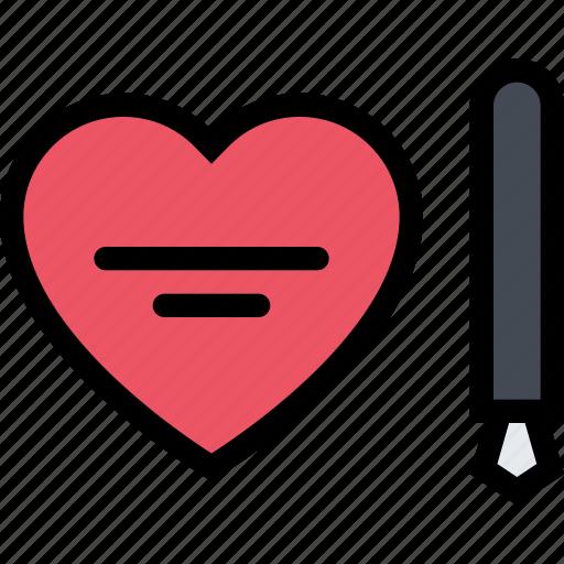 love, lovers, relationship, valentine, valentine's day, wedding, write icon