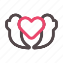 giving, love, romantic, valentine icon
