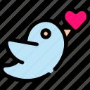 bird, love, romance, valentine icon