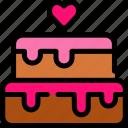 bakery, cake, love, valentine icon