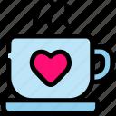 chocolate, drink, love, valentine icon